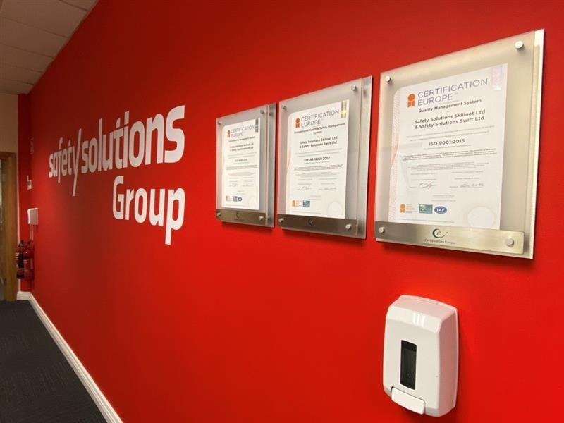 Safety Solutions ISO Certificates